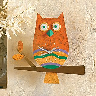 View Colombian Owl Wall Clock image