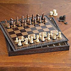 Handcrafted Florentine Chess Set