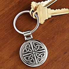 Handcrafted Celtic Pewter Key Chain