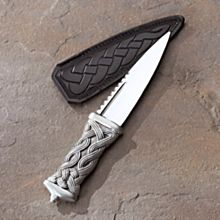 Scottish Celtic Pewter Sgian Dubh, Handmade in Scotland