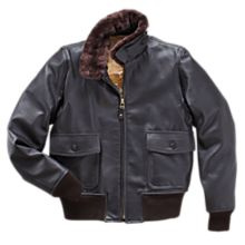 World War II Men'S Goatskin G-1 Style Flight Jacket