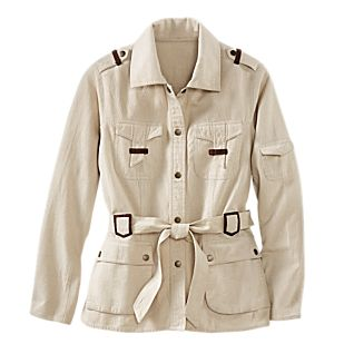Women's Cotton Safari Jacket
