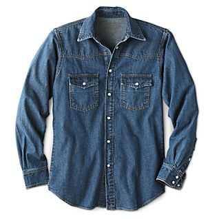 View Men's American Classic Abilene Denim Shirt image