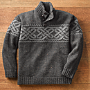 Charcoal Irish Celtic Wool Pullover