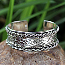 Sterling Silver Thai Hill Tribe Cuff Bracelet
