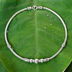 Handcrafted Sterling Silver Thai Hill Tribe Necklace