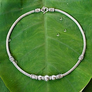 View Sterling Silver Thai Hill Tribe Necklace image