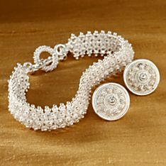 Handcrafted Lao Flower Bracelet