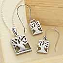 Connemara Marble Irish Fairy Tree Earrings