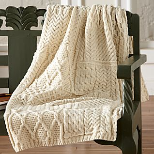 View Traditional Irish Aran Throw image