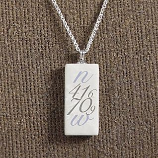 View Personalized Longitude and Latitude Place Necklace image