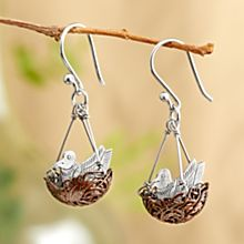 Handcrafted Robin's Nest Earrings