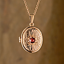 German Art Nouveau Garnet Locket