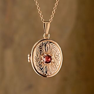 View German Art Nouveau Garnet Locket image