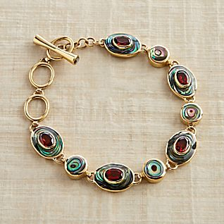 View Balinese Abalone and Garnet Bracelet image