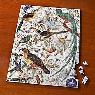 View Woodcut Birds of Paradise Puzzle image