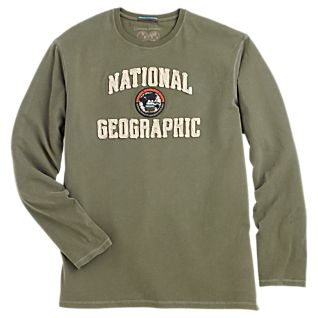 National Geographic Long-Sleeved Logo T-shirt