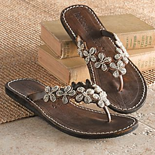 View Kenyan Floral Beaded Sandals image
