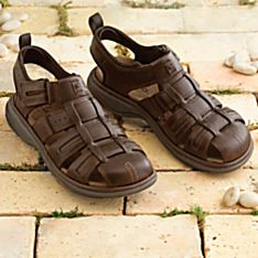 Men's Lightweight Leather Touring Sandals
