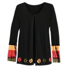 Women's Black Bandhani Jacket