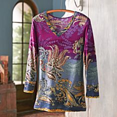 Women's Indian Boteh Travel Shirt