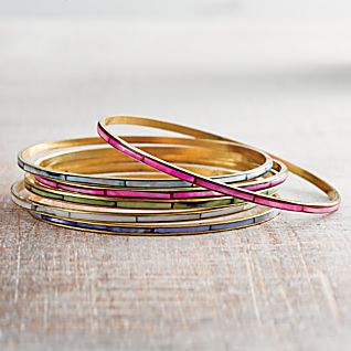 View Mother of Pearl Bangles - Set of 6 image