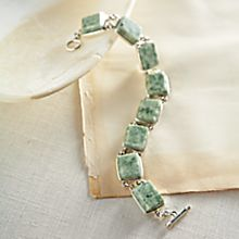 Guatemalan Jade and Sterling Silver Bracelet
