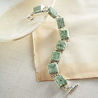 View Guatemalan Jade and Sterling Silver Bracelet image