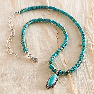 View Navajo Turquoise Beaded Necklace image
