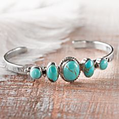 Handcrafted Five Rivers Navajo Turquoise Bracelet