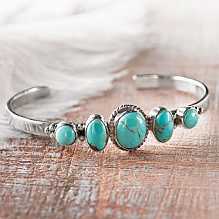 View Five Rivers Navajo Turquoise Bracelet image
