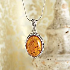 Handcrafted Art Deco Amber Necklace