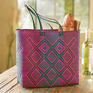 View Oaxacan Handwoven Plastic Tote image