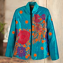 Women's Valley of the Flowers Silk Jacket