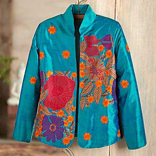 View Valley of the Flowers Silk Jacket image