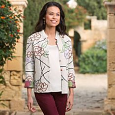 Women's Lotus Flower Reversible Jacket