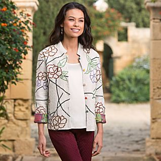 View Lotus Flower Reversible Jacket image