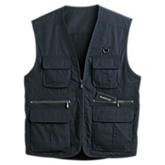 Mens Travel Pocket Vests