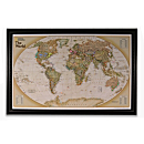 National Geographic ''Light Your Way'' Customizable World Map (Earth-toned)