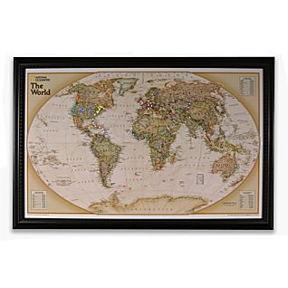 View National Geographic ''Light Your Way'' Customizable World Map (Earth-toned) image
