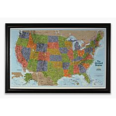 Personalized 'Light your Way' Customizable U.S. Wall Map (Classic)