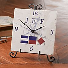 Personalized Nautical Flag Clock
