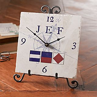 View Personalized Nautical Flag Clock image