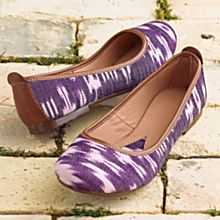 Handwoven Guatemalan Ikat Slip-on Shoes