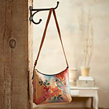 Indian Gudavi Hand-Painted Leather Bag