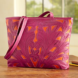 View Paraguayan Leather Tote Bag image