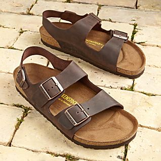 Milano Habana Oiled Leather Travel Sandals