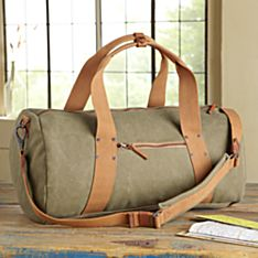 Waxed Canvas Travel Bag