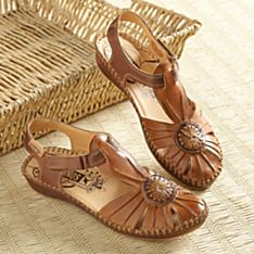 Women's Hand-Stitched Spanish Leather Touring Sandals