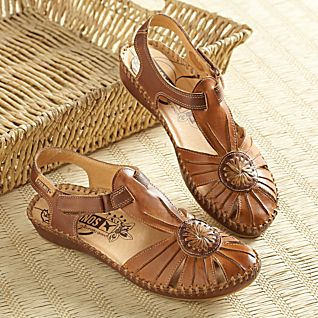 View Hand-Stitched Spanish Leather Touring Sandals image